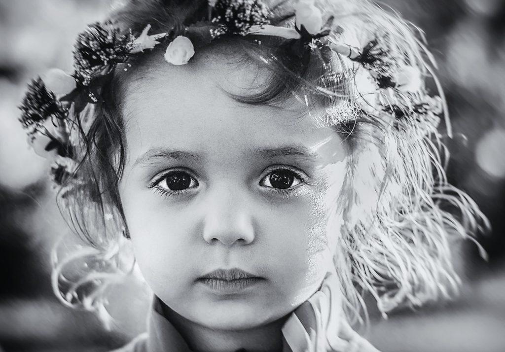 一眼レフカメラで子供の写真